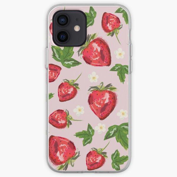 Strawberry Botanical iPhone Soft Case