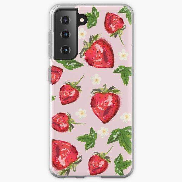 Strawberry Botanical Samsung Galaxy Soft Case