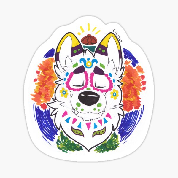 Lobo de muertos Sticker