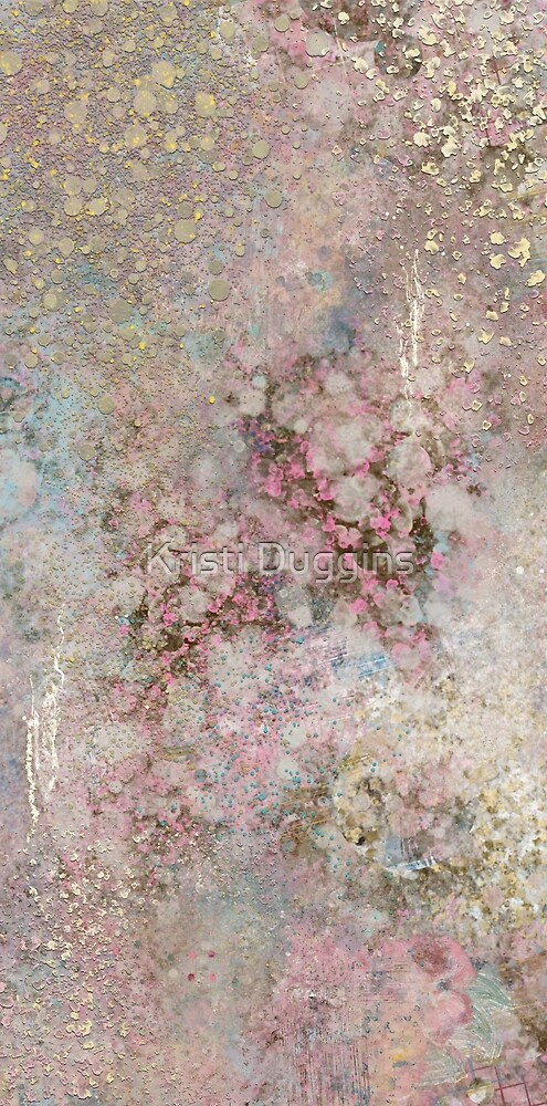 Abstract Painting 090520.2, Pink and Gold by Kristi Duggins