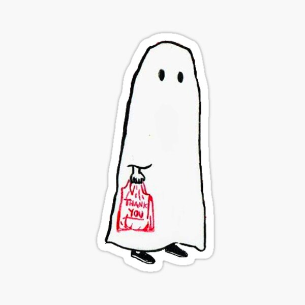 Little Shopping Ghost Sticker