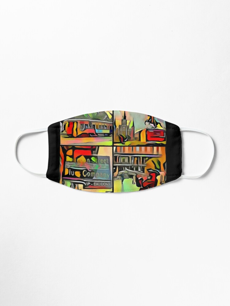 Alternate view of New Orleans-Jackson Square- Trolley-Jazz Player-Blues Bar Mask