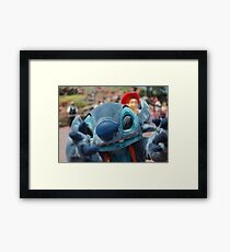Stitch Wants You Framed Print