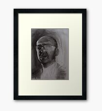 Charcoal Drawing, Head of Patrick Framed Print