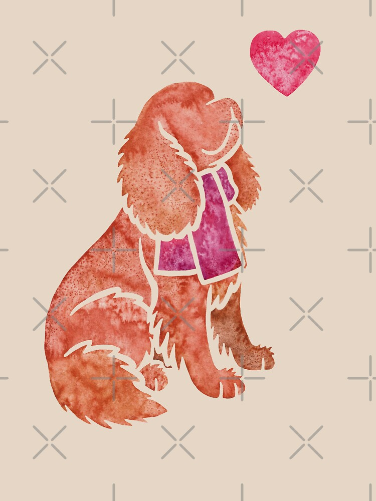 Watercolour Cavalier King Charles Spaniel by animalartbyjess
