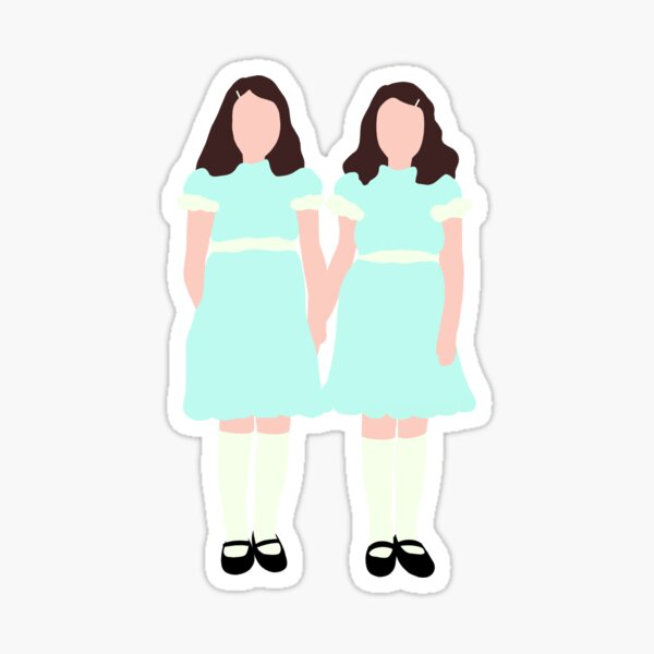 The Shining Twins Simple Design Sticker