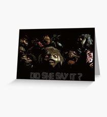 The Labyrinth, labyrinth, jim henson, concept art, goblin king, goblins Greeting Card
