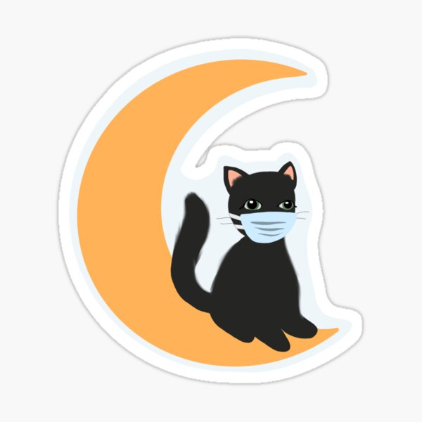 Cat With a Mask Sticker
