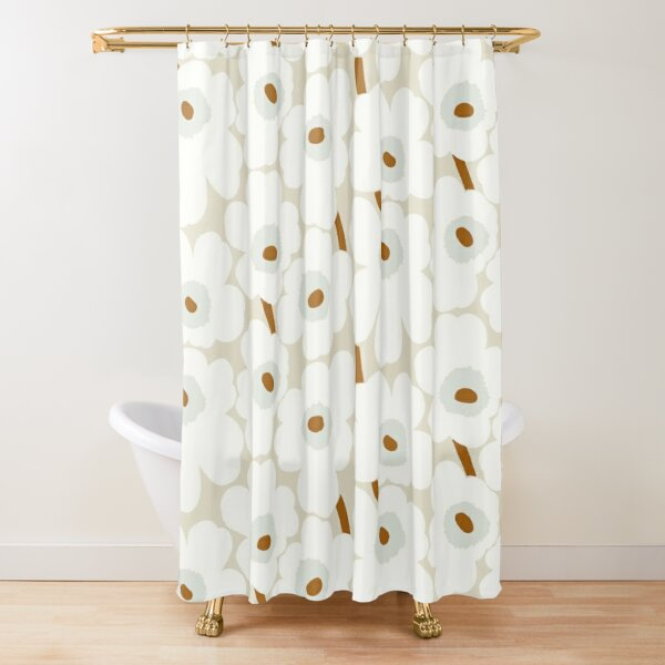 Marimekko unikko white design Shower Curtain