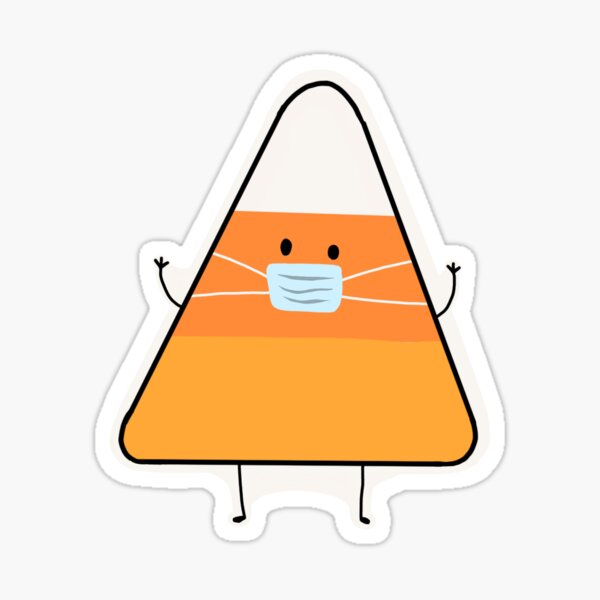 Candy Corn with a Mask Sticker