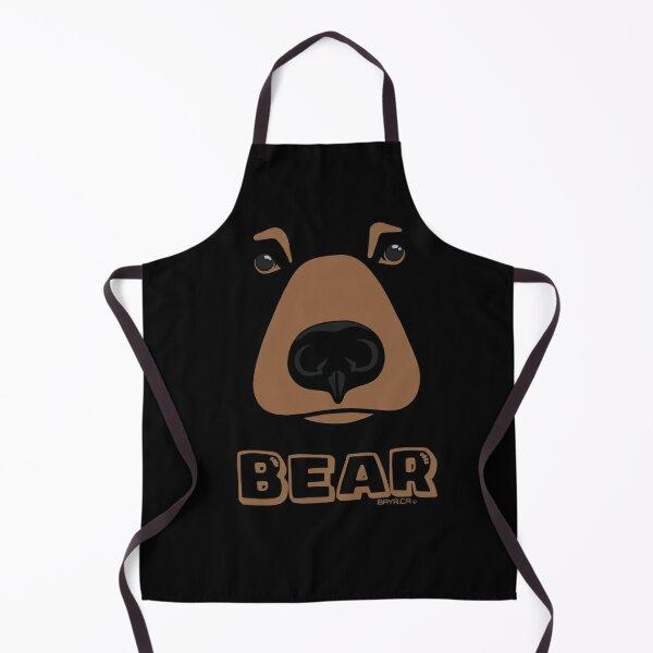 BLACK BEAR FACE - Cute Blackbear - Choose Black Apron