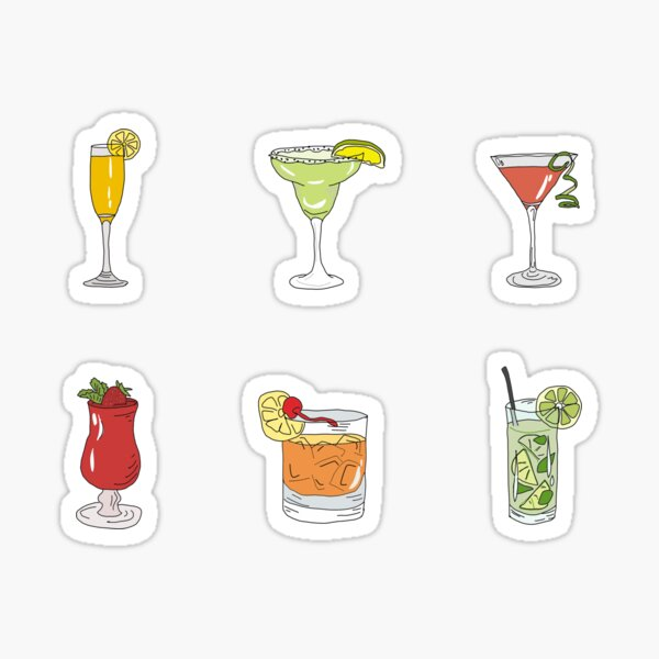 Cocktail Mixed Drinks Sticker