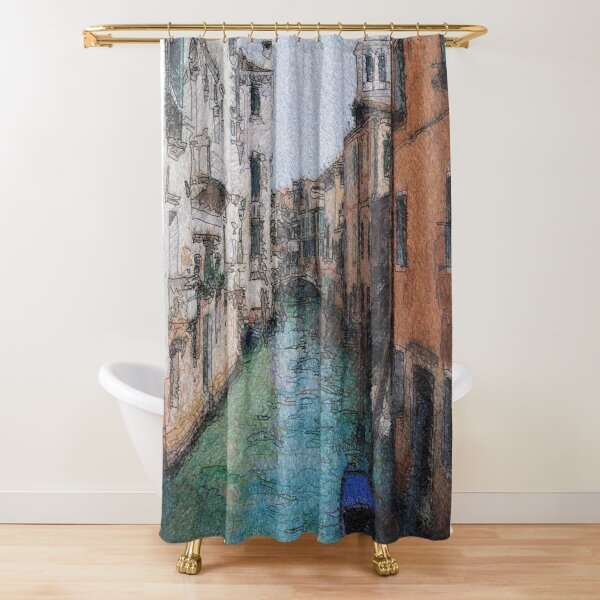 Venice View Over Canal Shower Curtain