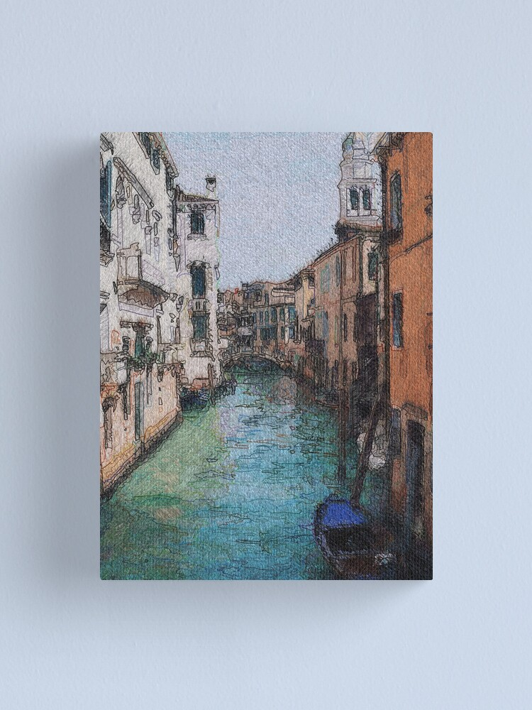 Alternate view of Venice View Over Canal Canvas Print