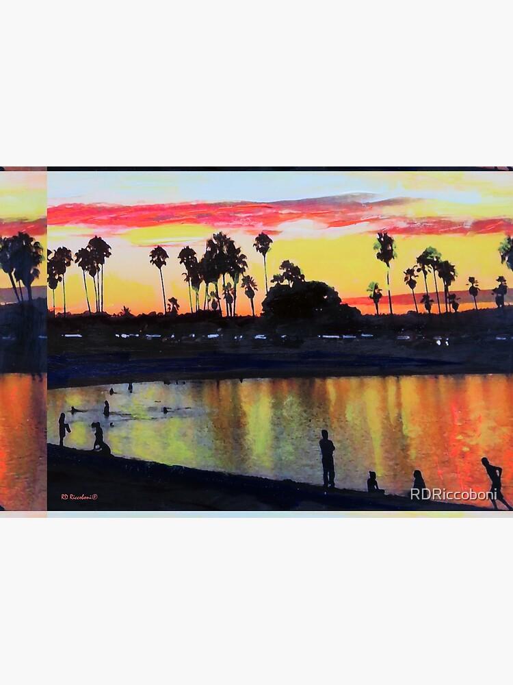 Tropical Sunset on The Lagoon - San Diego California by RDRiccoboni