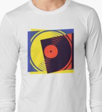Pop Art Vinyl Record Long Sleeve T-Shirt