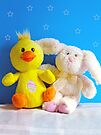 Chickie & Bunny by FrankieCat