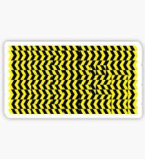 black yellow Sticker