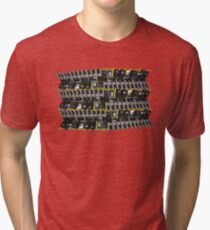between the yellow lines Tri-blend T-Shirt