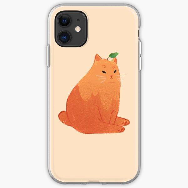 Peach cat iPhone Soft Case