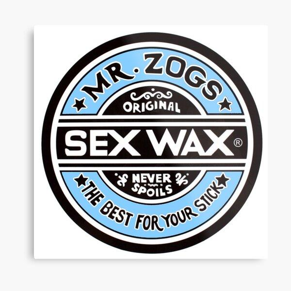 Surfboard wax design Metal Print