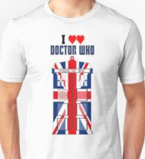 I Heart Doctor Who (Union Jack TARDIS) T-Shirt