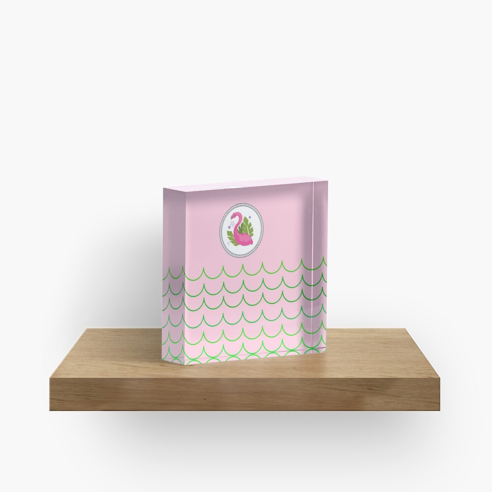 The Pink Flamingo-Flamingo-Florida Flamingo Acrylic Block