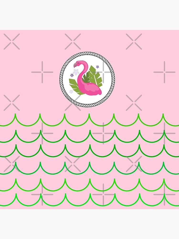 The Pink Flamingo-Flamingo-Florida Flamingo by Matlgirl