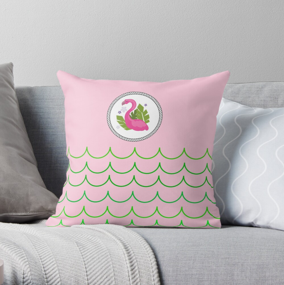 The Pink Flamingo-Flamingo-Florida Flamingo Throw Pillow