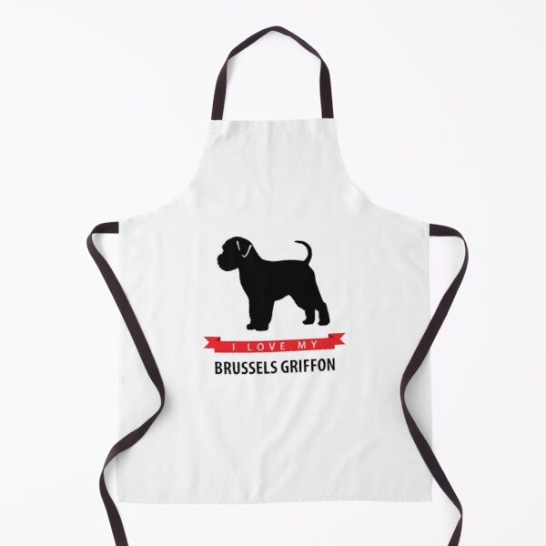 I Love My Brussels Griffon Apron