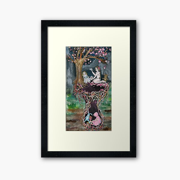 Magnolia Tea Party Framed Art Print
