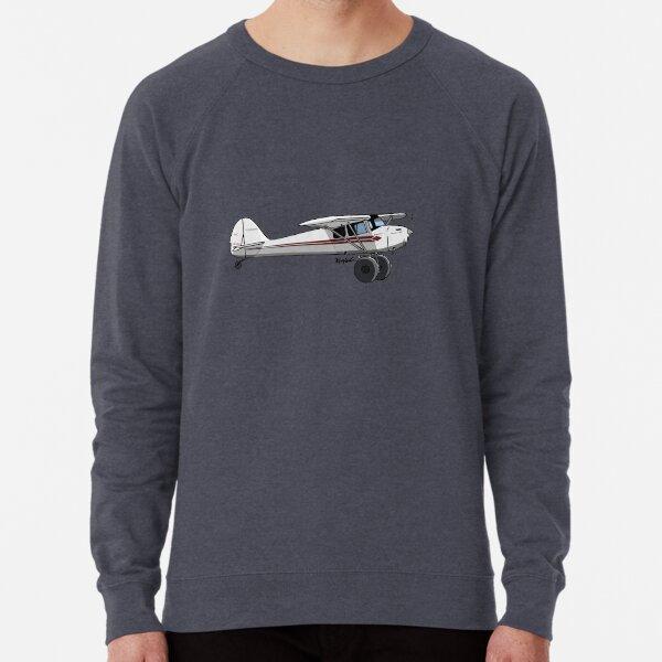 Taylorcraft Red and White Lightweight Sweatshirt