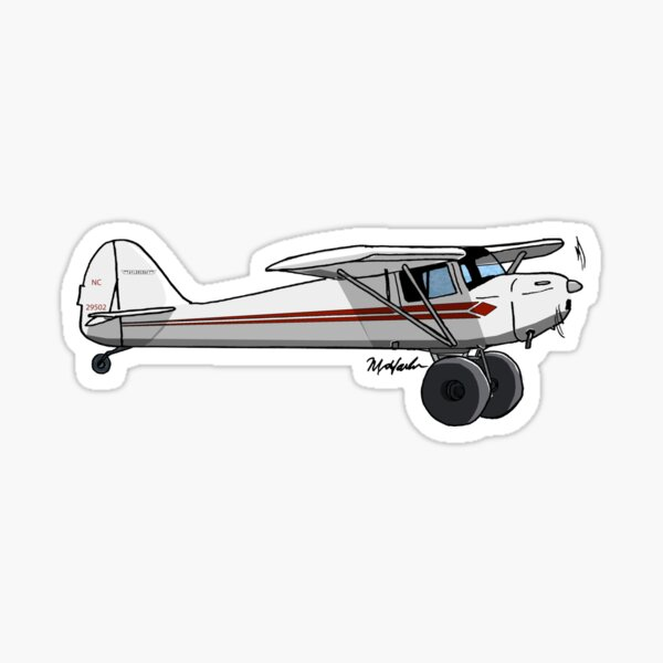 Taylorcraft Orange and White Sticker