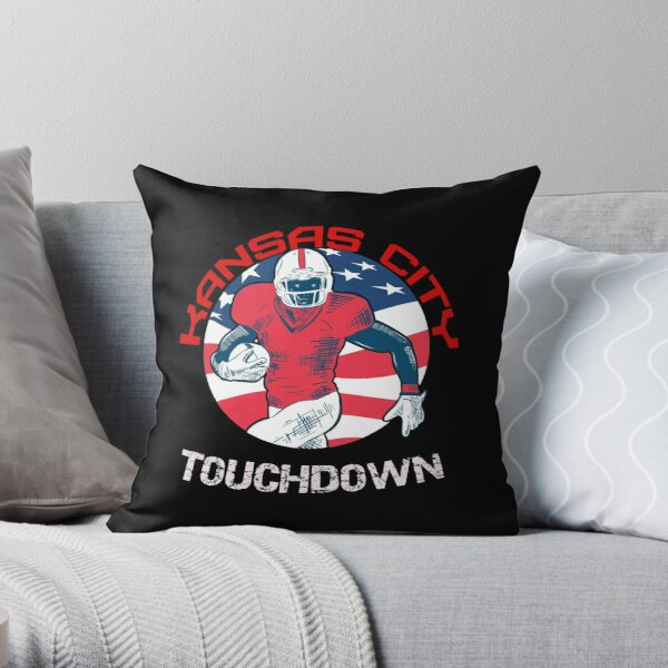 Kansas City Touchdown Football T-Shirt Throw Pillow