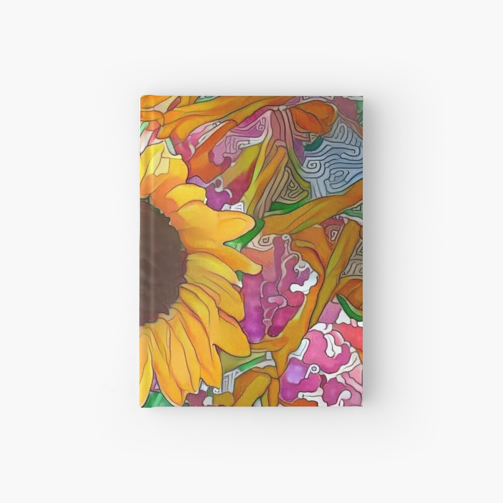 The Sunflower-Sunflower-Sunflower Fields-Sunflower Seeds Hardcover Journal