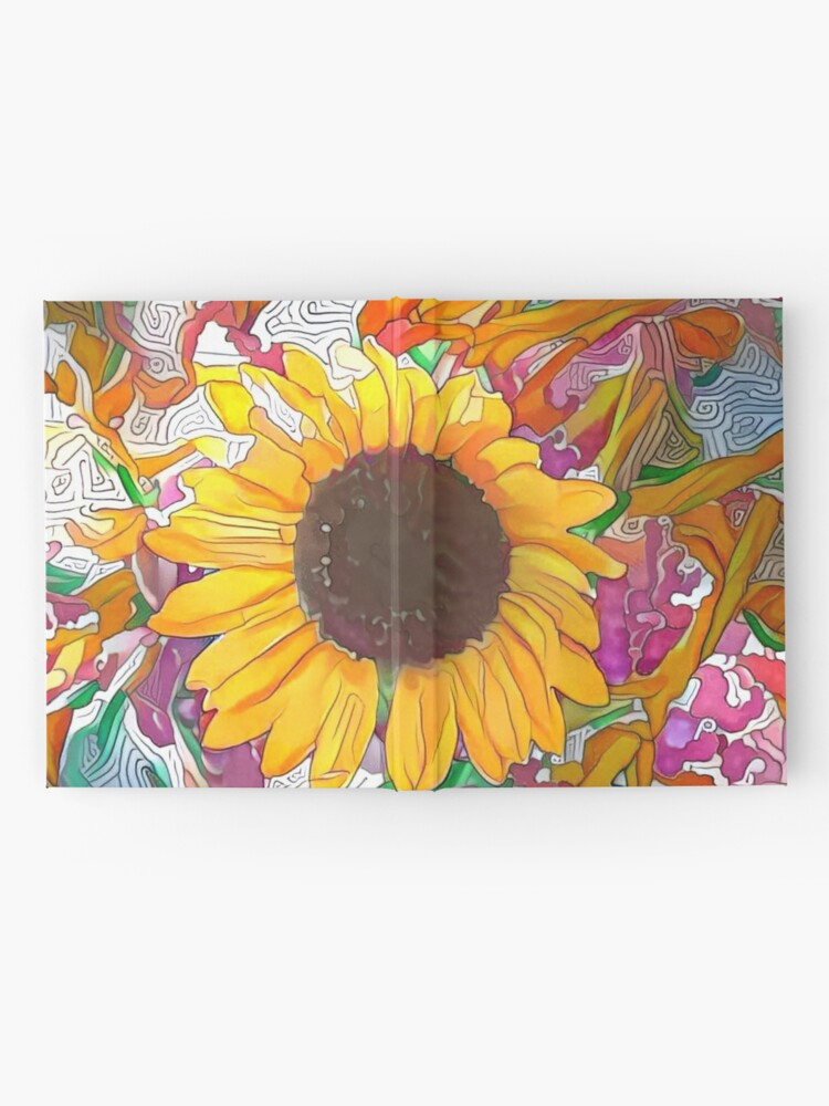 Alternate view of  The Sunflower-Sunflower-Sunflower Fields-Sunflower Seeds Hardcover Journal