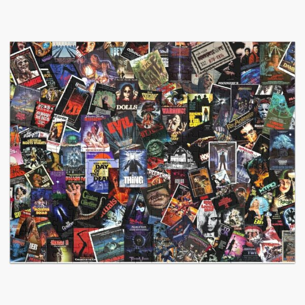 Horror Movies collection Freddy Jason Pinhead and others Jigsaw Puzzle