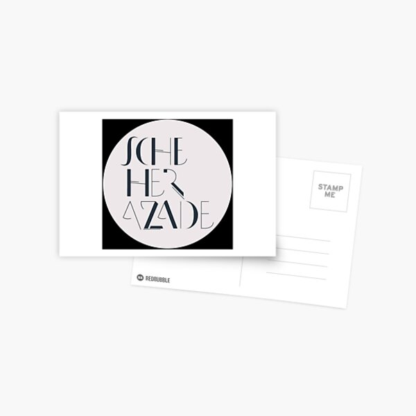 The Scheherazade Pin Postcard