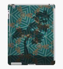 Winter Pine on Gold Embroidered Motif iPad Case/Skin