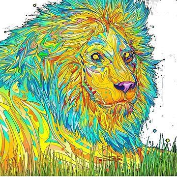 Trippy Lion by Rywreck