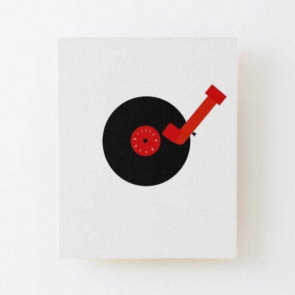 British Rock-Vinyl LP-Turntable Wood Mounted Print
