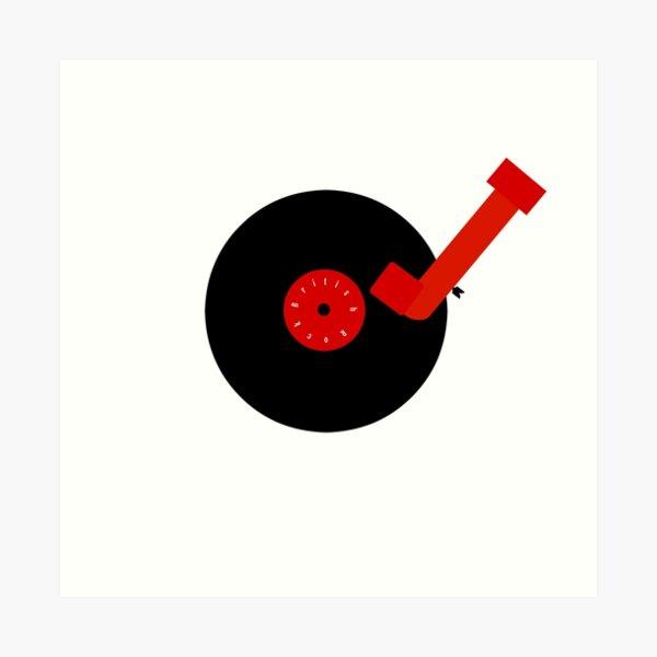 British Rock-Vinyl LP-Turntable Art Print
