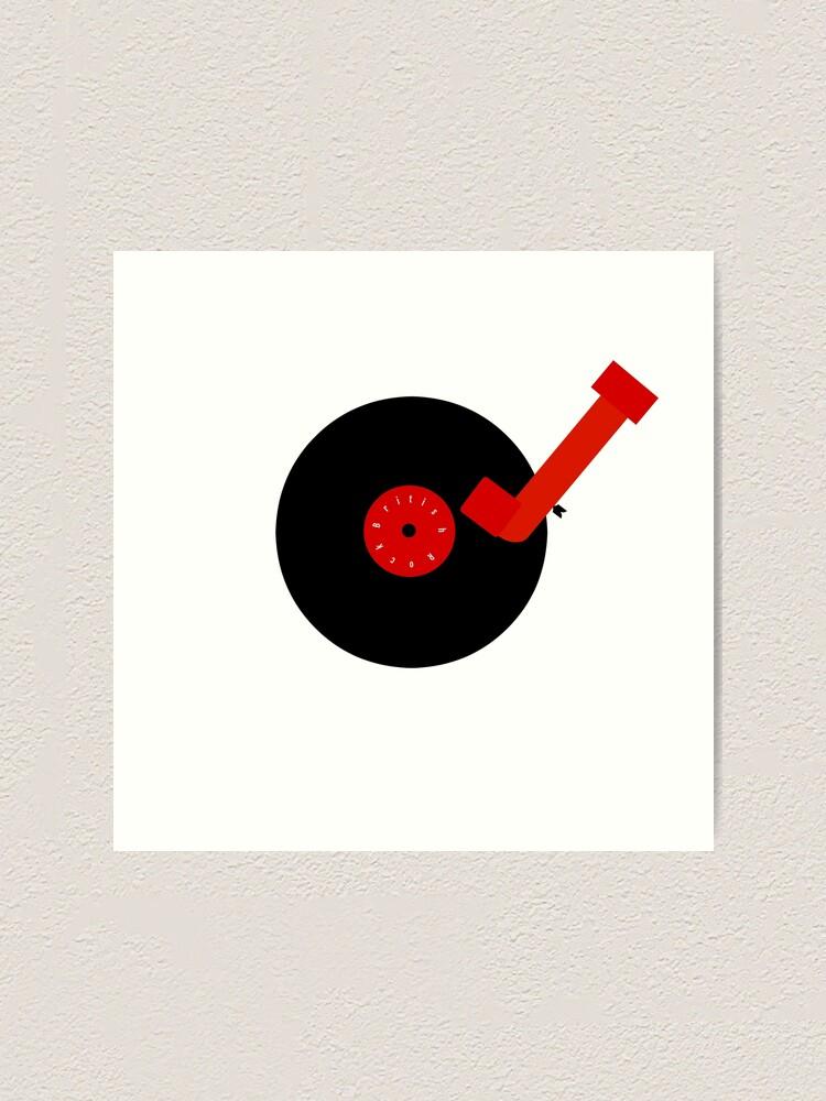 Alternate view of British Rock-Vinyl LP-Turntable Art Print