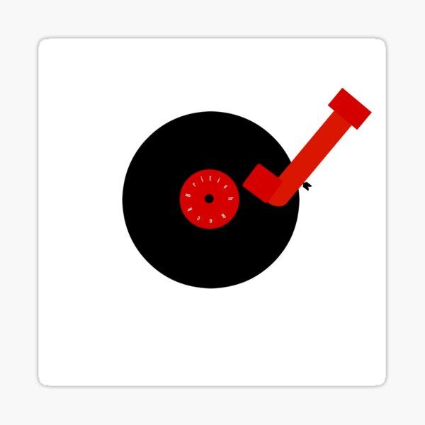 British Rock-Vinyl LP-Turntable Sticker