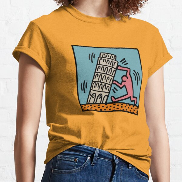 Keith Haring - Pisa Tower / 1988 / Talking Heads / Abstract / Pop Art Classic T-Shirt