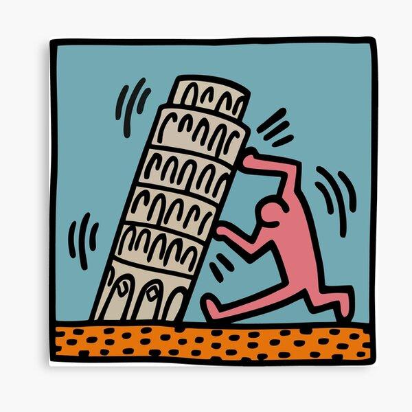 Keith Haring - Pisa Tower / 1988 / Talking Heads / Abstract / Pop Art Leinwanddruck