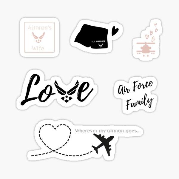 Airforce Wife Sticker Pack Sticker