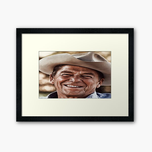"""Actor,Politician,Husband,Dad,.........& A Hero to the people behind the Iron Curtain,.....""""Mr. Gorbachev, tear down this wall!""""  Framed Art Print"""