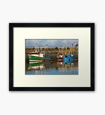Fishing Boats in Maryport Harbour Framed Print