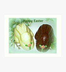 Chocolate Marshmallow Bunnies Art Print